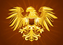 Golden eagle insignia. Illustration of decorative golden eagle insignia Royalty Free Stock Photo