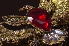 Golden eagle jewel pendant Royalty Free Stock Photo