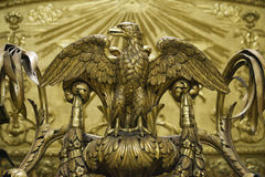 Golden eagle statue Stock Photos