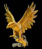 Golden eagle statue Stock Photo