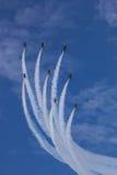 Golden Eagles de ROKAF T-50 na formação Fotografia de Stock
