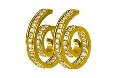 Golden Earrings Stock Photos