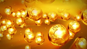 Golden Earth flying, stock footage. Video stock footage