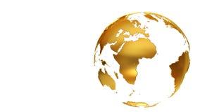 Golden Earth globe Stock Photos