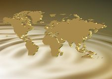 Golden earth sinking Stock Photography