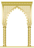 Golden East Arch. Golden arch with twisted columns in Arabic or other Eastern style royalty free illustration
