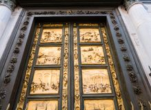 East doors of Baptistery in Florence, Italy Royalty Free Stock Photography