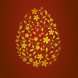 Golden easter egg. Yellow/golden easter egg made of spring branches Royalty Free Stock Photos