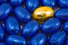 Golden easter egg background Stock Image