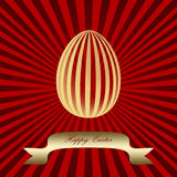 Golden Easter egg Stock Photography