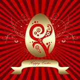 Golden Easter egg Royalty Free Stock Photo