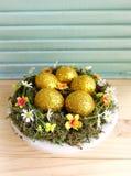 Golden Easter egg Stock Image