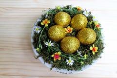 Golden Easter egg Stock Photography