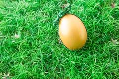 Golden easter egg Royalty Free Stock Photos