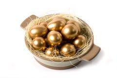 Easter Egg. Golden easter egg for holiday celebration Royalty Free Stock Photo