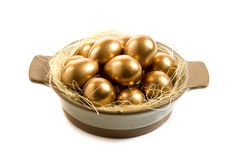 Easter Egg. Golden easter egg for holiday celebration Royalty Free Stock Image