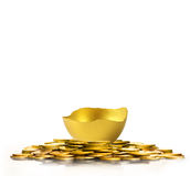 Golden  easter egg isolated Stock Photos