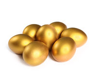 Golden  easter egg isolated Royalty Free Stock Images