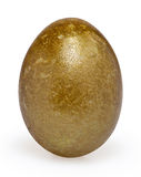 Golden easter egg isolated on white Stock Image