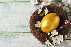 Golden easter egg Royalty Free Stock Photography