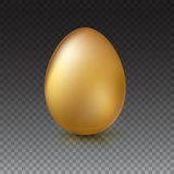Golden Easter egg, vector illustration. Royalty Free Stock Photography
