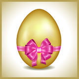 Golden Easter egg  Stock Image