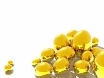 Golden easter eggs. Golden bright 3D Easter Eggs on White Backgorund vector illustration