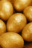 Golden Easter eggs Royalty Free Stock Photos