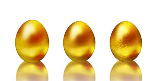 Golden easter eggs Royalty Free Stock Images