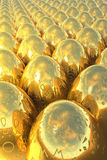 Golden easter eggs royalty free stock image