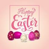 Golden easter eggs royalty free illustration
