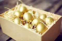 Golden Easter eggs Stock Image
