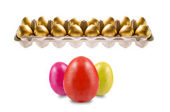 Golden with easter Eggs Royalty Free Stock Image