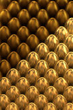 Golden Easter eggs Stock Image
