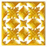 Golden eastern ornament. 3D background. Stock Images