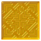 Golden eastern ornament. 3D background. Royalty Free Stock Photo