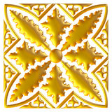 Golden eastern ornament. 3D background. Royalty Free Stock Images