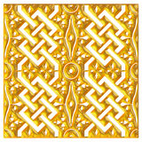 Golden eastern ornament. 3D background. Stock Image