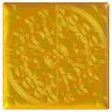Golden eastern ornament. 3D background. Stock Image