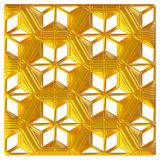 Golden eastern ornament. 3D background. Royalty Free Stock Photos