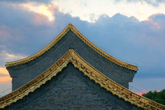 Golden eaves Royalty Free Stock Images