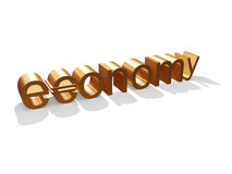Golden Economy. 3d Golden Economy Backround royalty free illustration