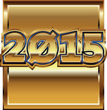2015 golden effect. Made in adobe illustrator vector illustration