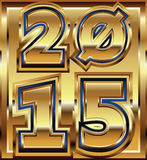 2015 golden effect. Made in adobe illustrator stock illustration