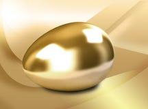 Golden Egg. On color background royalty free illustration