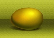 Golden egg. On a yellow background royalty free illustration