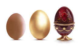 Golden egg. Royalty Free Stock Photos