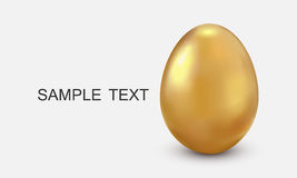 Golden egg. Isolated on white Royalty Free Stock Photography