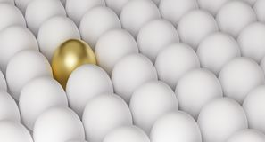 Free Golden Egg Among White Eggs, Symbol Of Richness Or Success, 3D Render Stock Photos - 147501103