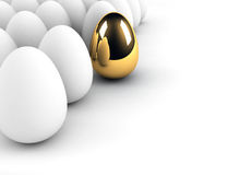 Golden egg concept. Out of the crowd Royalty Free Stock Images